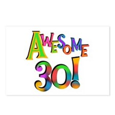 Awesome 30 Birthday Postcards (Package of 8)