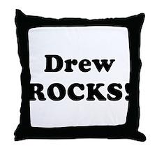 Drew Rocks! Throw Pillow