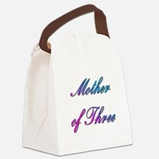 Mother of Three Canvas Lunch Bag
