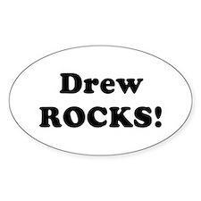Drew Rocks! Oval Decal
