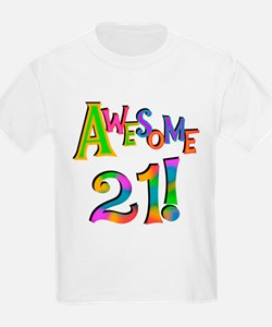 Awesome 21 Birthday T-Shirt