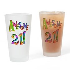Awesome 21 Birthday Drinking Glass