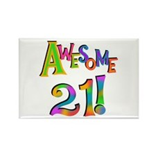 Awesome 21 Birthday Rectangle Magnet (10 pack)