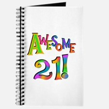 Awesome 21 Birthday Journal