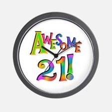 Awesome 21 Birthday Wall Clock
