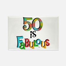 50 is Fabulous Rectangle Magnet
