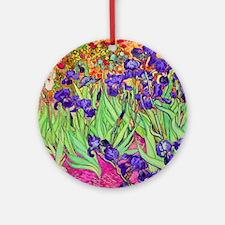 van gogh purple iris Round Ornament