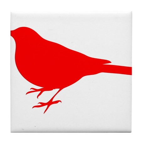 Red Robin Silhouette Tile Coaster