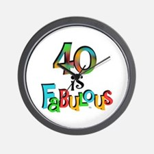 40 is Fabulous Wall Clock