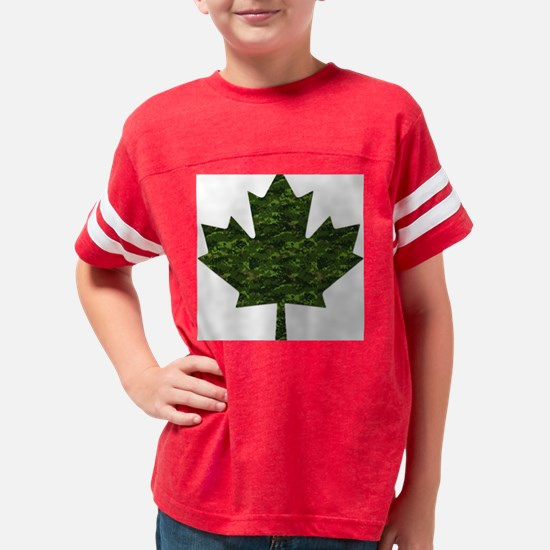 cadpat maple leaf Youth Football Shirt