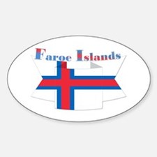 Faroe Islands flag ribbon Decal