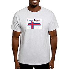 Faroe Island flag ribbon Ash Grey T-Shirt