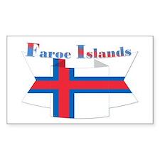 Faroe Islands flag ribbon Decal