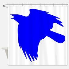 Blue Falcon Silhouette Shower Curtain