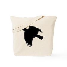 Black Falcon Silhouette Tote Bag