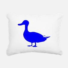 Blue Duck Silhouette Rectangular Canvas Pillow