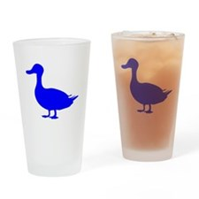 Blue Duck Silhouette Drinking Glass