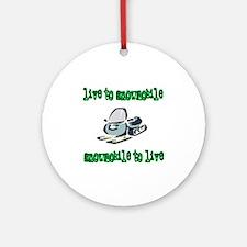Live to Snowmobile Ornament (Round)
