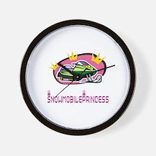 "SnowmobileChick ""Princess"" Wall Clock"
