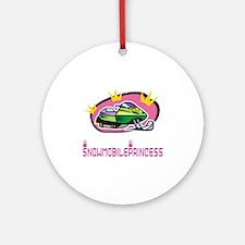 "SnowmobileChick ""Princess"" Ornament (Round)"