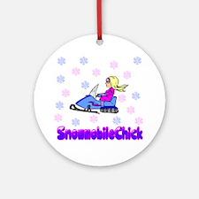 SnowmobileChick Logo Ornament (Round)