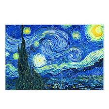 van gogh starry night Postcards (Package of 8)