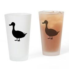 Black Duck Silhouette Drinking Glass