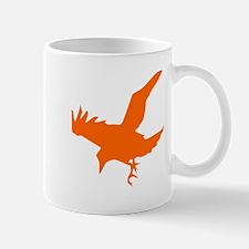 Orange Eagle Silhouette Mugs