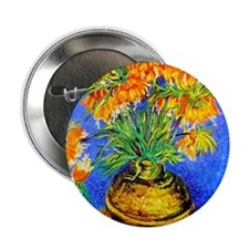 "van gogh frittilaries 2.25"" Button"