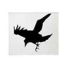 Black Eagle Silhouette Throw Blanket
