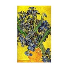 van gogh irises in vase Decal