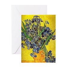 van gogh irises in vase Greeting Card