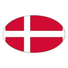 Flag of Denmark Oval Decal