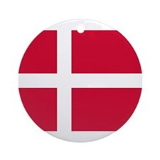 Flag of Denmark Ornament (Round)