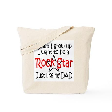 RockBaby...just like Dad Tote Bag
