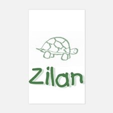 Green Turtle Zilan Rectangle Decal
