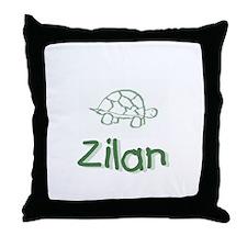Green Turtle Zilan Throw Pillow