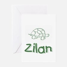Green Turtle Zilan Greeting Cards (Pk of 10)