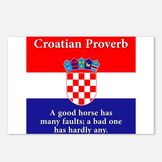 A Good Horse - Croatian Proverb Postcards (Package