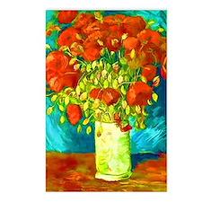 orange poppies van gogh Postcards (Package of 8)
