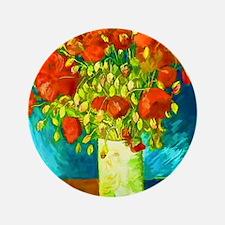 """orange poppies van gogh 3.5"""" Button"""
