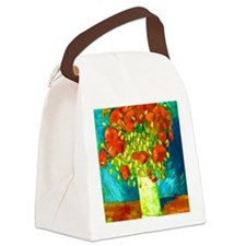 orange poppies van gogh Canvas Lunch Bag