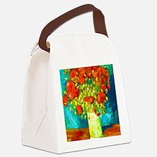 orange poppies van gogh Canvas Lunch Bag