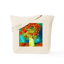 orange poppies van gogh Tote Bag