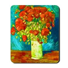 orange poppies van gogh Mousepad