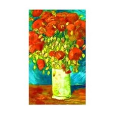 orange poppies van gogh Decal