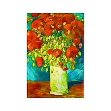 orange poppies van gogh Rectangle Magnet
