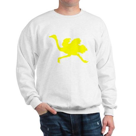 Yellow Ostrich Silhouette Jumper