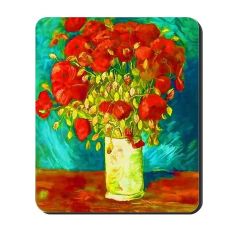 red poppies Mousepad