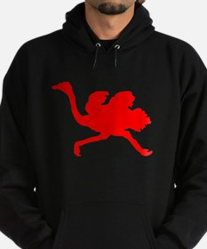 Red Ostrich Silhouette Hoody